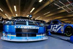 Kurt Busch's Miller Lite Dodge sits in the garage