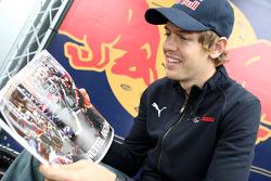 Sebastian Vettel with the Red Bulletin