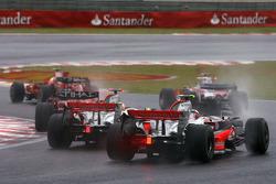 Start of the race, Lewis Hamilton, McLaren Mercedes, Heikki Kovalainen, McLaren Mercedes