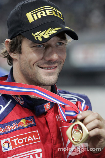 2008 World Rally champion Sébastien Loeb celebrates