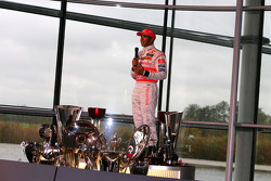 Lewis Hamilton on stage
