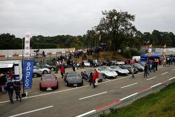 Vintage Corvette display