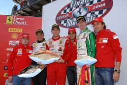 Sunday Coppa Shell race: the podium