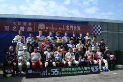 Drivers group photoshoot: the 2008 Macau Grand Prix lineup
