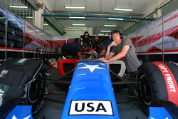 Marco Andretti, driver of A1 Team USA, J.R. Hildebrand, driver of A1 Team USA