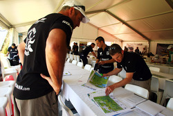 Launceston, Australia: competitors mark up their course maps