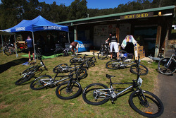 Launceston, Australia: the mountain bikes are prepared