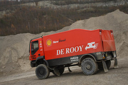 Team de Rooy: Jan de Rooy, Dany Colebunders, Darek Rodewald test the GINAF X2223 rally truck