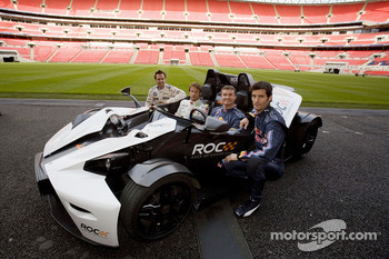 Andy Priaulx, Jenson Button, David Coulthard and Mark Webber take a close look at the KTM X-Bow at the Race of Champions media preview