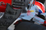 Gary Paffett, Test Driver, McLaren Mercedes, KERS isolation sticker