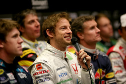 Carl Edwards, Jenson Button and David Coulthard
