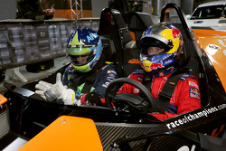 Carl Edwards waits for a ride with Sébastien Loeb in a KTM X-Bow