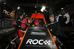 Michael Schumacher gets ready in a RX150 Buggy