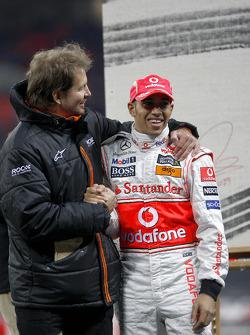 Frederik Johnson with Lewis Hamilton