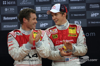 Podium: Nations Cup second place Mattias Ekstrm and Tom Kristensen (Team Scandinavia)