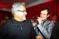 Dr Vijay Mallya Force India F1 Team Owner with Vitantonio Liuzzi Force India F1 Third Driver at the Fly Kingfisher Boat Party