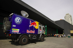 Volkswagen Motorsport trucks at scrutineering