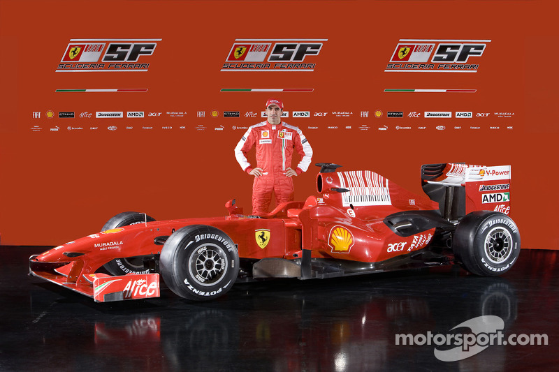 Marc Gene with the new Ferrari F60