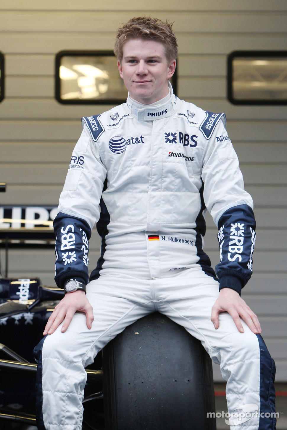 Nico Hulkenberg, test driver, with the the new Williams FW31