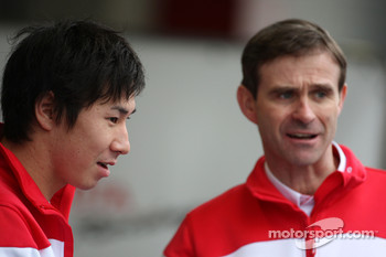Kamui Kobayashi, Test Driver, Toyota F1 Team, Pascal Vasselon, Toyota Racing, Senior General Manager Chassis