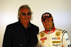 Flavio Briatore and Nelson A. Piquet