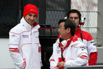 Timo Glock, Toyota F1 Team and Tadashi Yamashina, Chairman and Team Principal