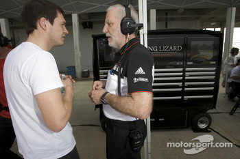 Richard Lietz and Porsche racing engineer Roland Kussmaul