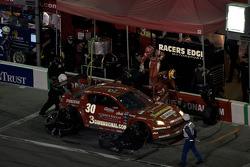 Pit stop for #30 Racers Edge Motorsports Mazda RX-8: Dane Cameron, Doug Peterson, Bryan Sellers, Dion von Moltke