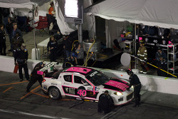 Pit stop for #40 Dempsey Racing Mazda RX-8: Patrick Dempsey, Charles Espenlaub, Joe Foster