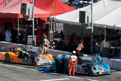 Michael Shank Racing pit area