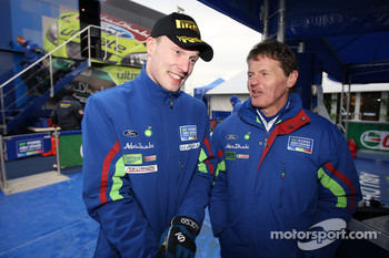 Jari-Matti Latvala and Malcolm Wilson