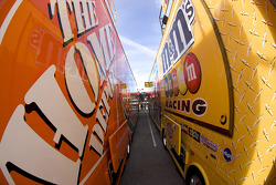 Joe Gibbs Racing haulers