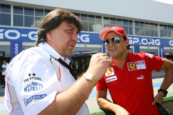 Tony Teixeira, A1GP Chairman and Felipe Massa