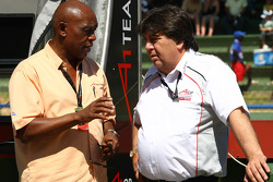 Tokyo Sexwale, Seat Holder A1 Team South Africa and Tony Teixeira, A1GP Chairman