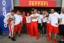 Edoardo Piscopo, driver of A1 Team Italy with Felipe Massa