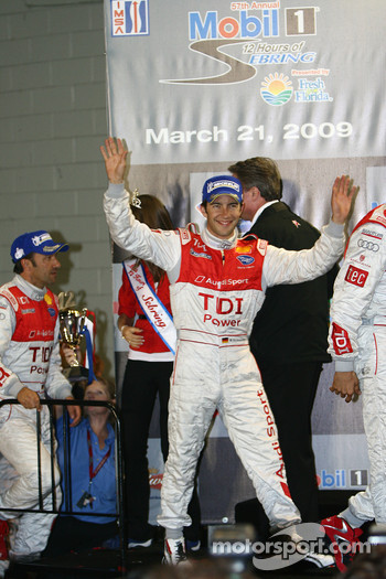 P1 podium: Mike Rockenfeller