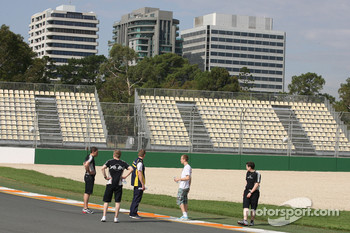 Sebastian Vettel, Red Bull Racing walk the circuit