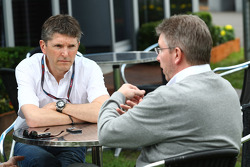 Nick Fry, BrawnGP, Chief Executive Officer and Ross Brawn Brawn GP Team Principal