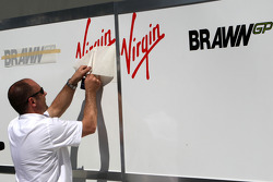 Sir Richard Branson CEO of the Virgin Group makes and announcement regarding the Virgin sponsorship deal with Brawn GP