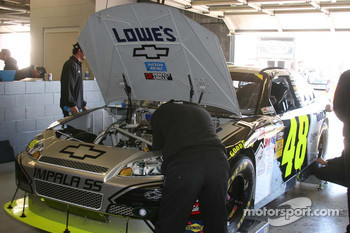 Jimmie Johnson's garage area