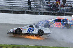 Joe Nemechek crashes