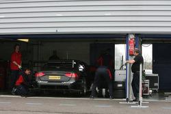 Timo Scheider, Audi Sport Team Abt Audi A4 in the garage