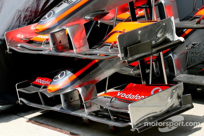 Front wing, detail, McLaren Mercedes