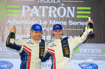 P1 podium: class and overall winners Gil de Ferran and Simon Pagenaud