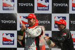 Podium: race winner J.R. Hildebrand, second place Richard Philippe, third place James Hinchcliffe