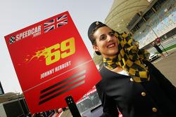 Grid girl for Johnny Herbert JMB