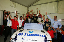 Gianni Morbidelli Palm Beach celebrates his championship success with the team