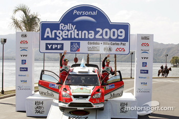 Podium: 4th place Federico Villagra and Jorge Perez Companc, Ford Focus RS WRC08