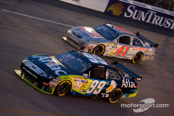 Carl Edwards, Roush Fenway Racing Ford, Jeremy Mayfield, Mayfield Motorsports Toyota