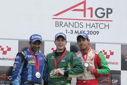 Narain Karthikeyan, driver of A1 Team India, Adam Carroll, driver of A1 Team Ireland and Salvador Duran, driver of A1 Team Mexico